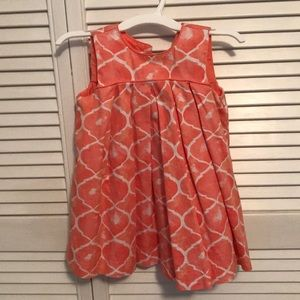 18 month little girls coral dress